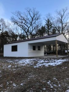 Tubing Hill Shelter Nearly Complete